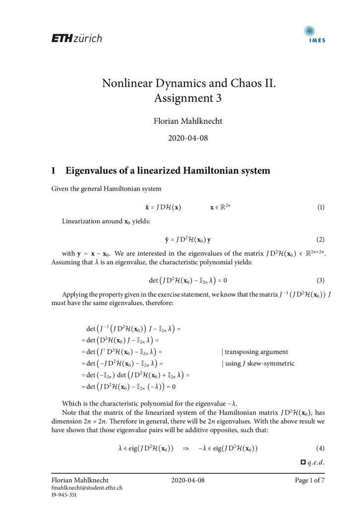 thumbnail of FM – Nonlinear Dynamics and Chaos II – Assignment 3