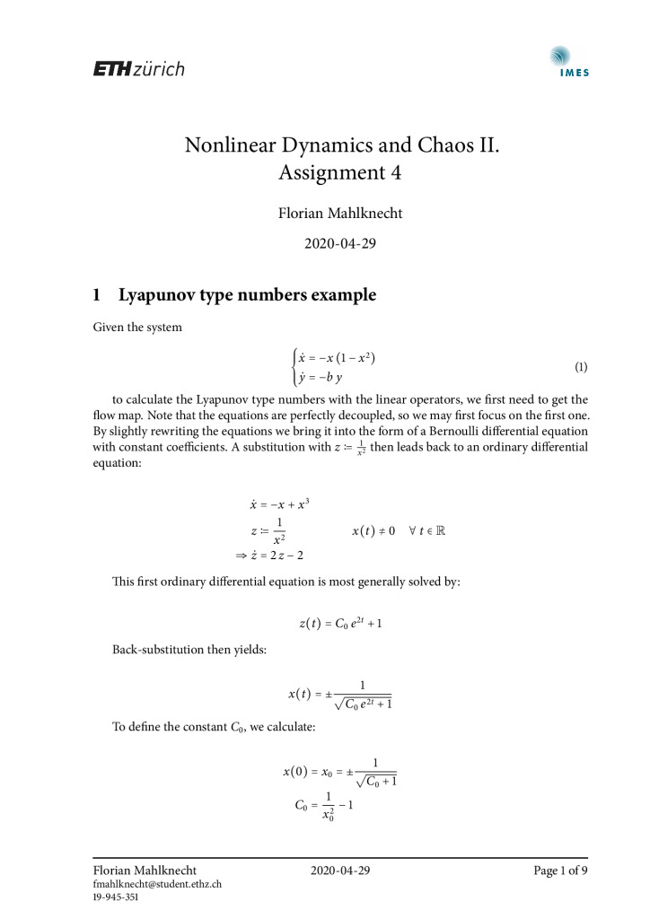 thumbnail of FM – Nonlinear Dynamics and Chaos II – Assignment 4